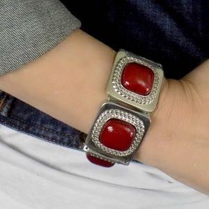 Vintage Jewelry - Vintage Red Statement Bracelet